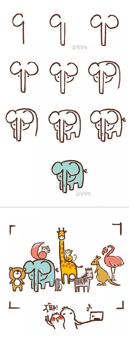 这位妈妈用数字0-9画出一个动物园,孩子学一遍就上手图片