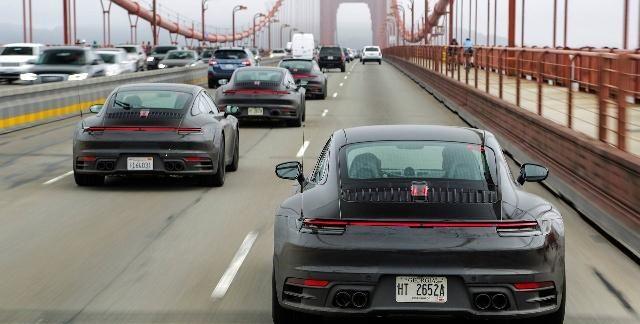 全新保时捷911官图曝光,外观看上去更精致,科技感更强