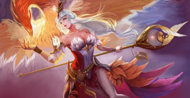 唯美背景手绘火焰鸟