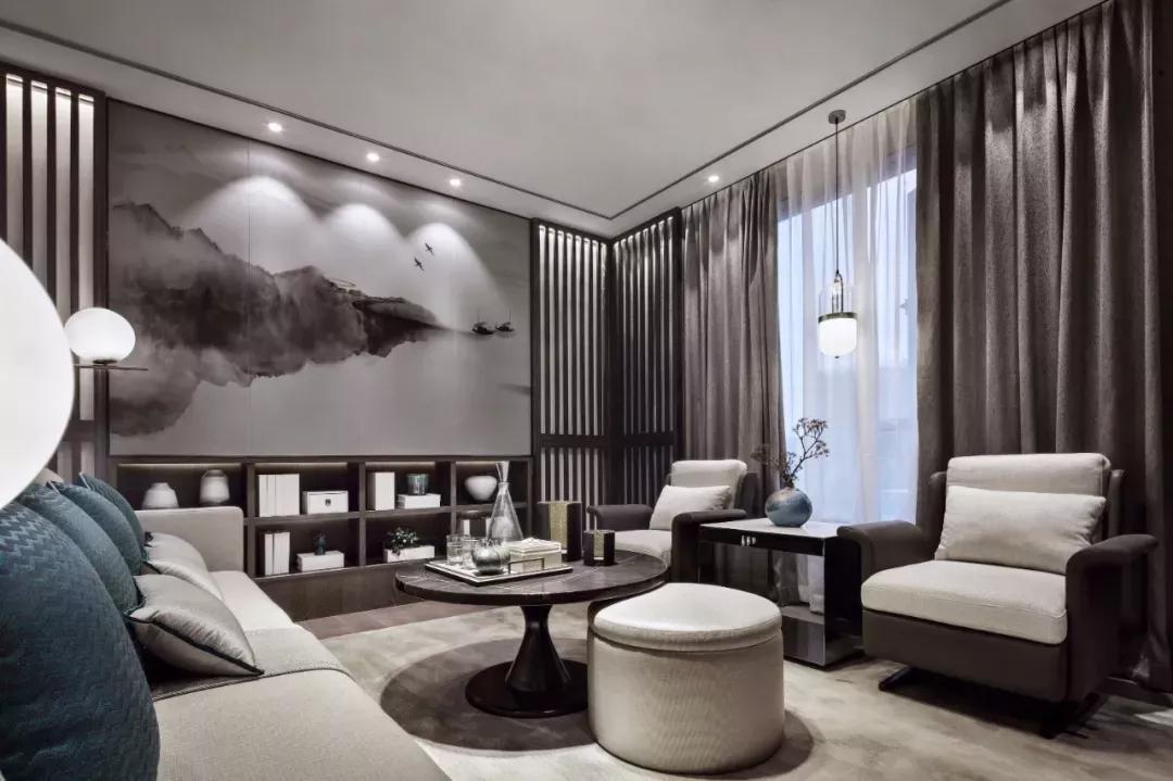 把古典与现代结合起来的新中式设计,带来轻奢感的家居图片