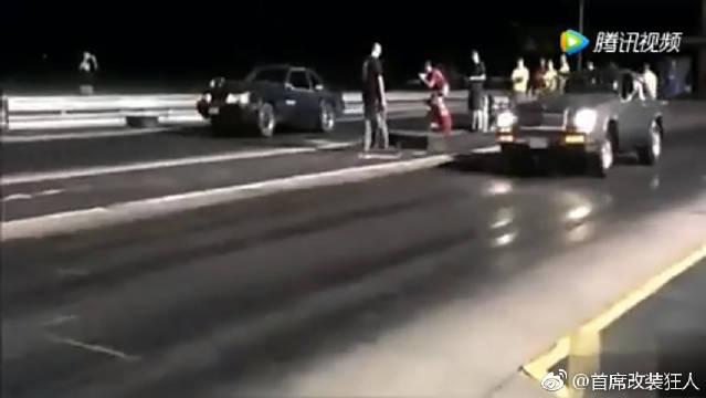 改装桑塔纳vs超跑法拉利,看个车屁股!