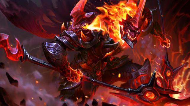 王者荣耀 国际版赵云也出了一款地狱火皮肤 特效火红火红的