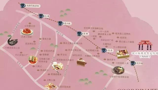 """成都龙泉驿这份美食手绘地图请收下!""""按图索骥""""吃遍"""