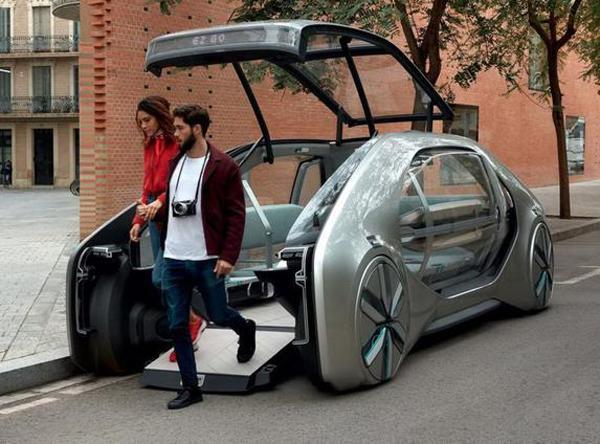 """这才叫概念车,雷诺EZ-GO""""脑洞大开"""",描绘未来共享出行"""