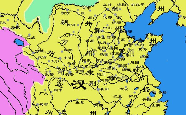 中国古代历代地图,我大中国国土面积最大时位居世界第