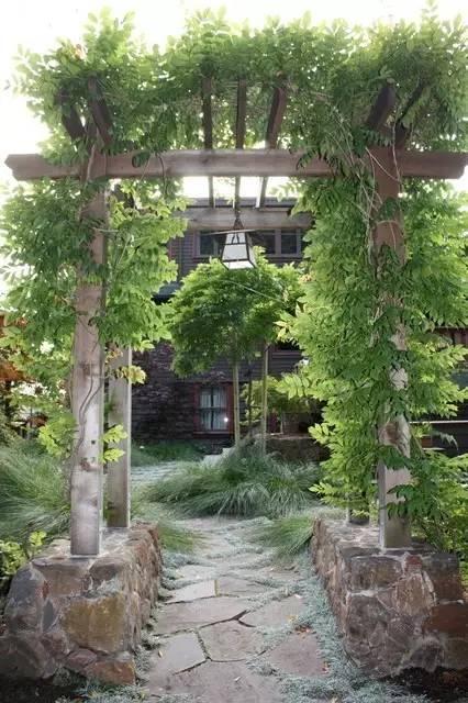 30款田园风光庭院花园入口设计|最美藤架