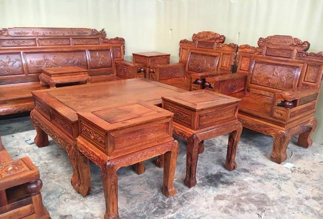 红木沙�yf�x�_最齐全的缅甸花梨红木沙发都在这里