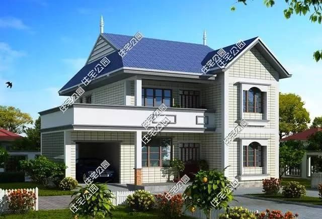 12x11米农村2层带车库别墅,毛坯造价23万!经济实用