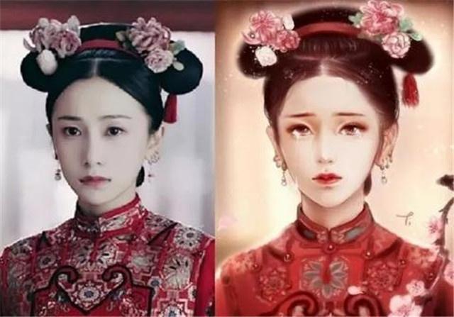 延禧手绘:魏璎珞,高贵妃都比原来美上几分,只有她还是