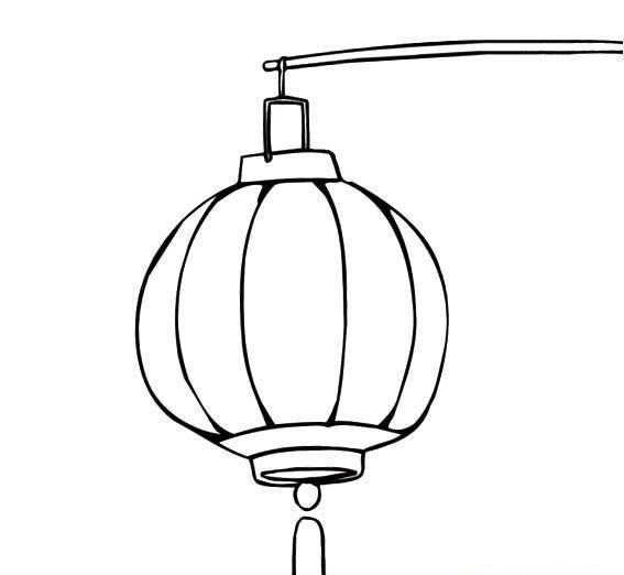 中秋灯笼简笔画图片大全, 关于中秋节灯笼简笔画
