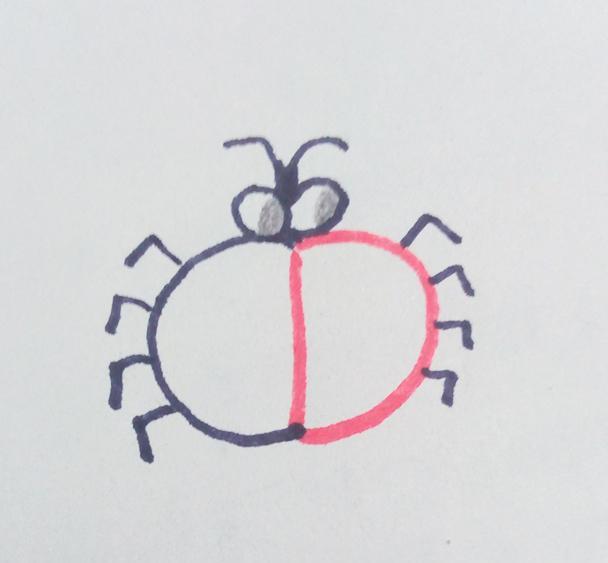 幼儿创意简笔画|用字母d画昆虫,你也可以哦!