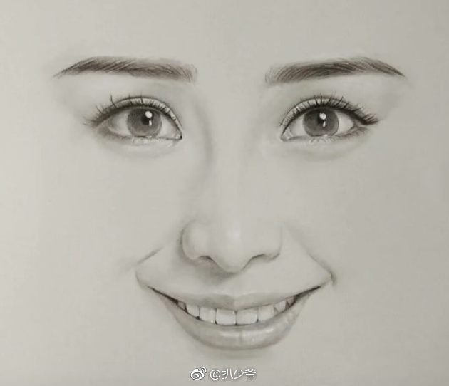六大女明星的手绘头像,迪丽热巴难找,杨幂最好认,最后