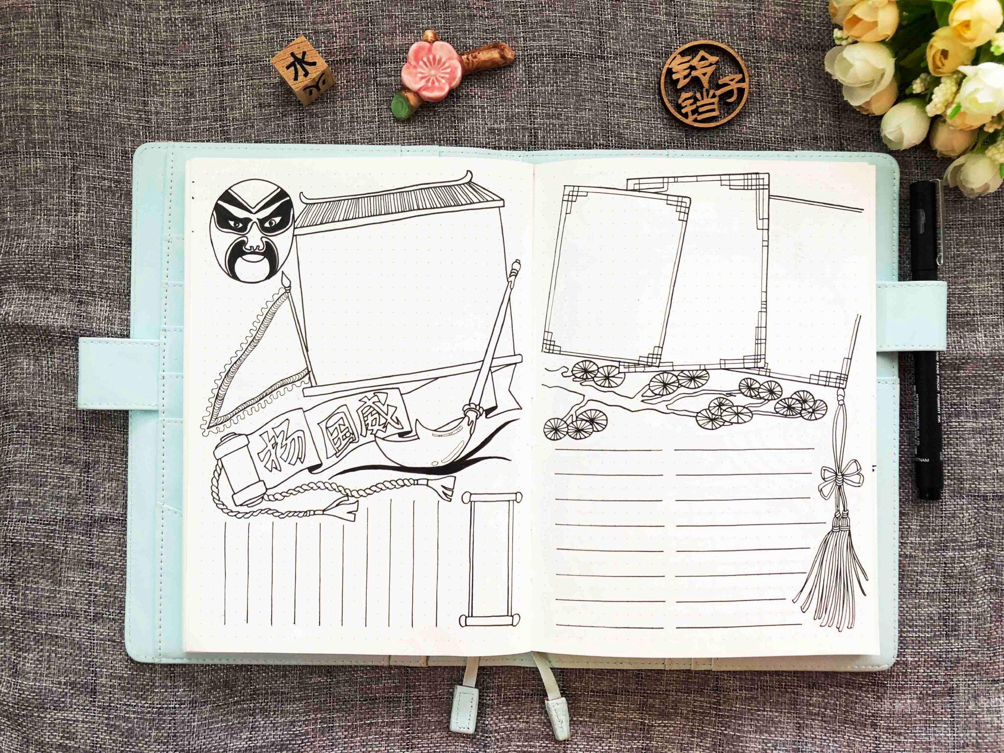 和铃铛子学简笔画 以下是 铃铛子手账 临摹的作品 原作者卡卡老师