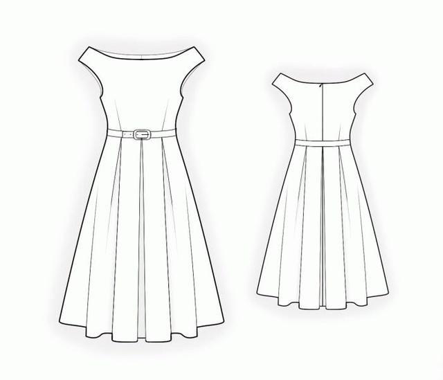 从设计款到款式图到制版图非常齐全的15款连衣裙,你还在等什么呢图片