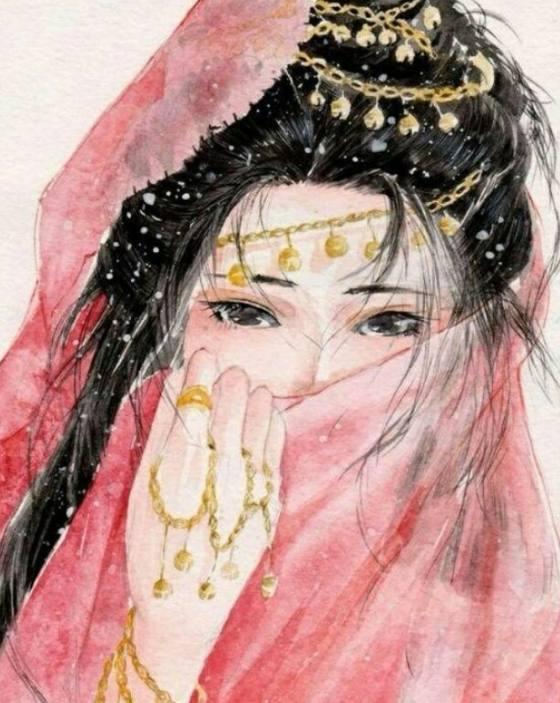 十二星座专属手绘面纱女子,摩羯座铁血丹心,天秤座西域风情!