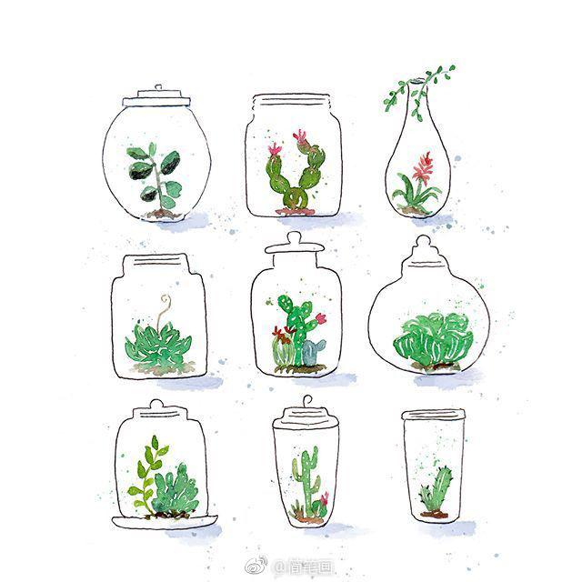 小清新水彩植物手绘合集(by:inksnthings)