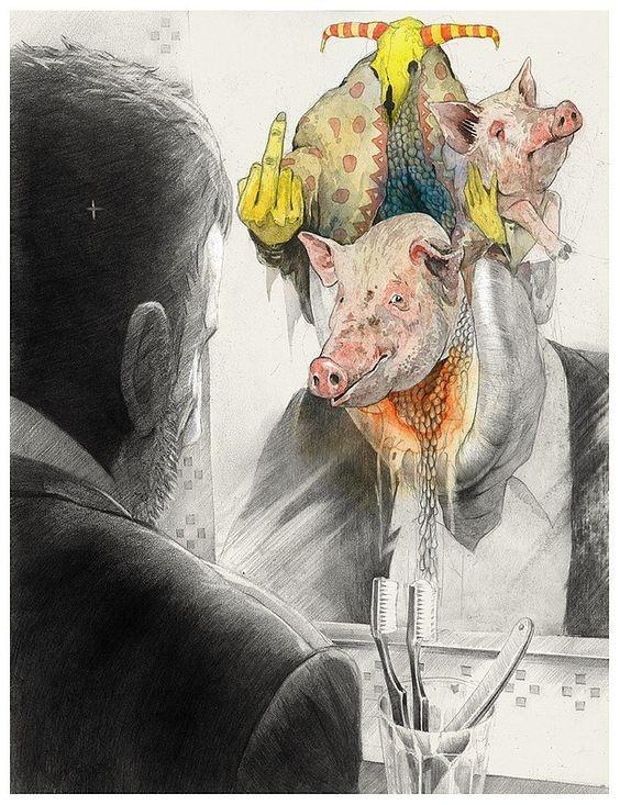 来自乌兹别克斯坦艺术家 dmitry ligay 插画设计一组