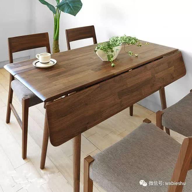 可折叠餐桌(深色)图片