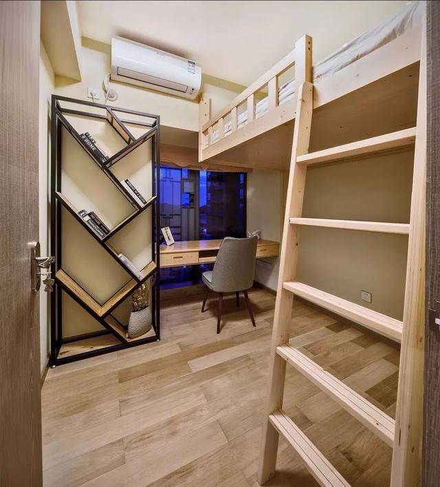 上床下桌,省空间又实用的设计!|书桌|儿童房|上铺图片
