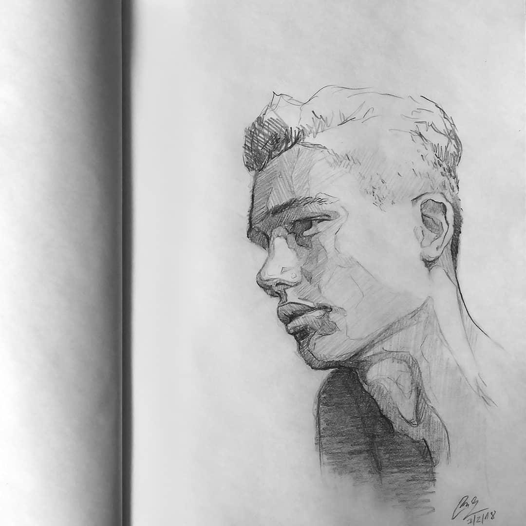 铅笔画aj