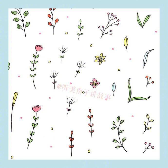 简笔画春天,24种花草植物的画法,马住学习