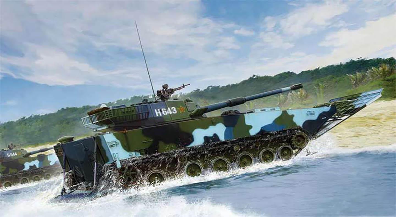 俄罗斯现役主要的两栖装备pt-76水陆坦克和btr-80两栖装甲运输车都是
