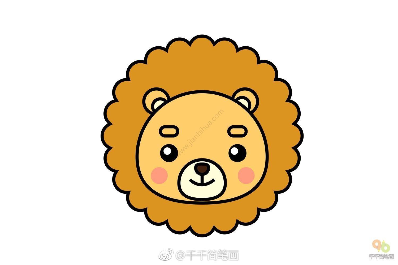 超萌超可爱 的小动物头像简笔画,马住和孩子一起画吧