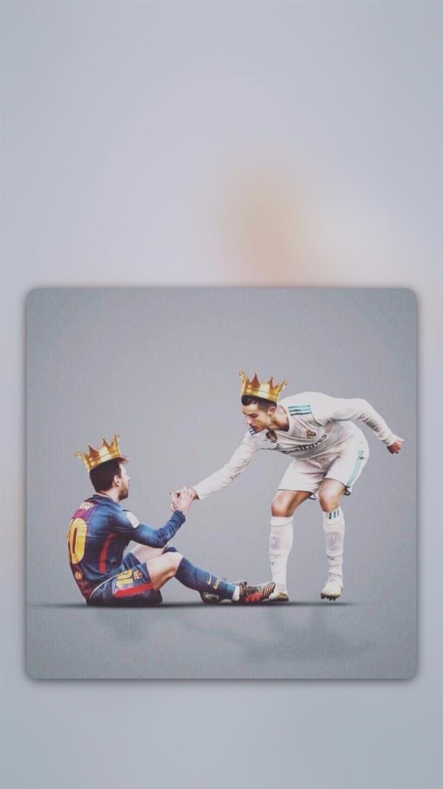 手机壁纸第62期:C罗梅西离开的世界杯,7号和10号我们永远记得