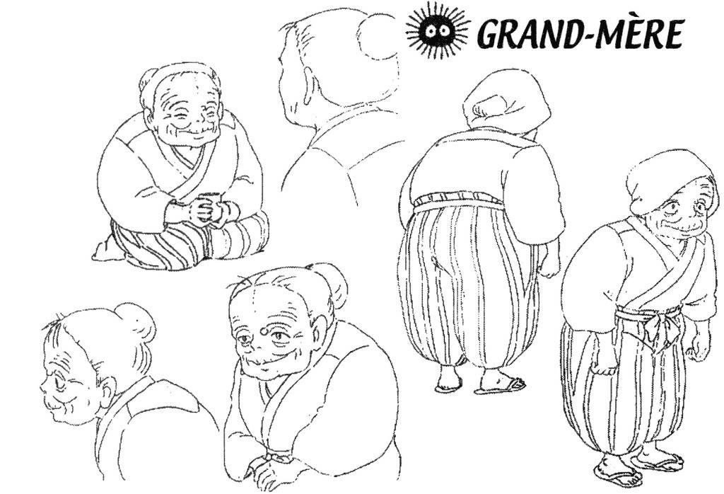 宫崎骏动漫《龙猫》的人物手稿