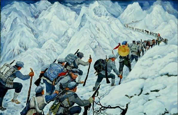 长征雪山爬红军过草地,你知道那片草地是短视频奸臣图片