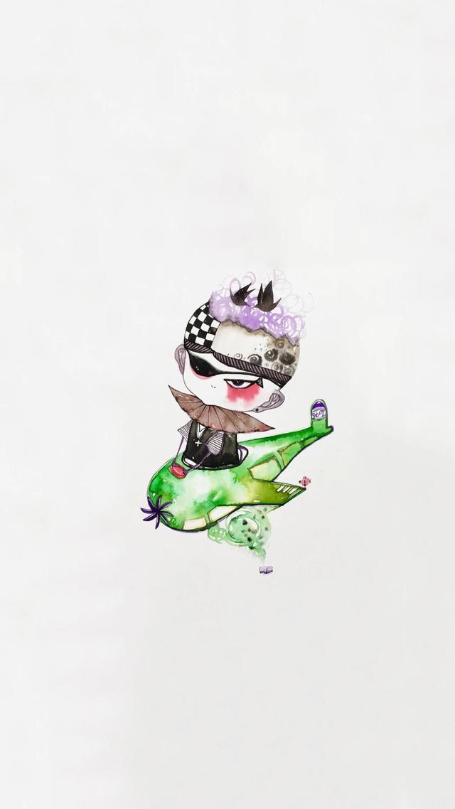 创意手绘动漫插画高清手机壁纸