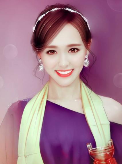 娱乐圈6位性感女星现代手绘图,赵丽颖上榜,第一盛世美颜!