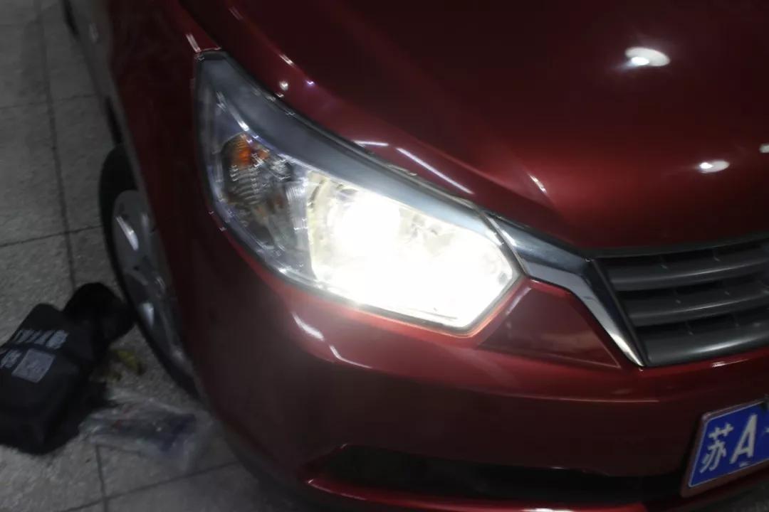 南京改灯 启辰R50升级阿帕5C套装,照明光效提升300%