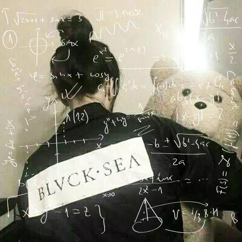 a头像头像女生颜色数学女生2016背影公式长发图片