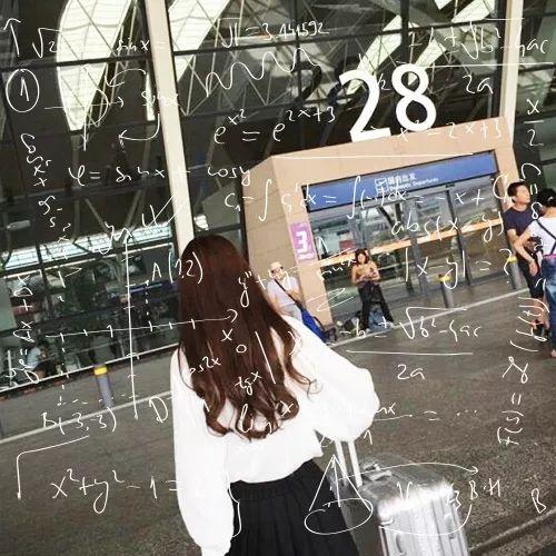 a女生女生数学头像公式背影长大女生形容了图片