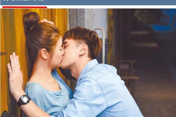 正在周播的偶像剧《我的男孩》渐入高潮,林心如和张轩睿的吻戏花絮