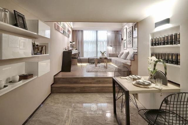 小户型爆改装修案例,3.5米高,35平米的平层→小型复式公寓!