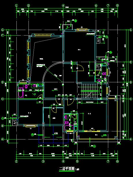小花池1,卫生间1等 二层设计:主卧室1,次卧室2,衣帽间1,阳台1,家庭厅1