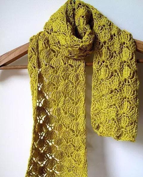 有了这些镂空钩织花样,钩漂亮围巾再也不用愁!(附图解