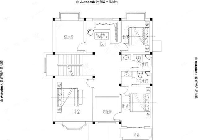 农村自建三层小别墅设计图-农村自建房效果图
