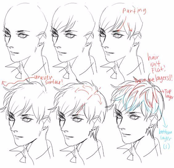各种男生发型的画法参考合辑