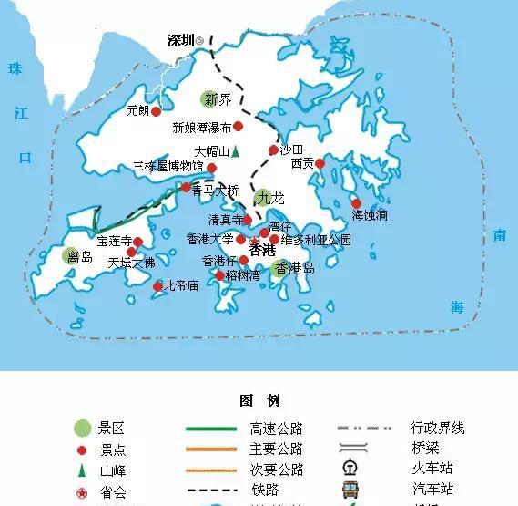 全国旅游地图迷你版,出行用手机查看很方便!