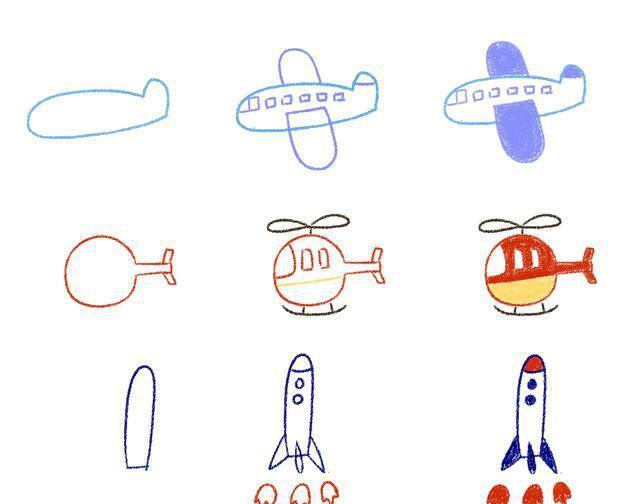 38款汽车飞机等交通工具简笔画,让你轻松画!爸妈收藏!图片
