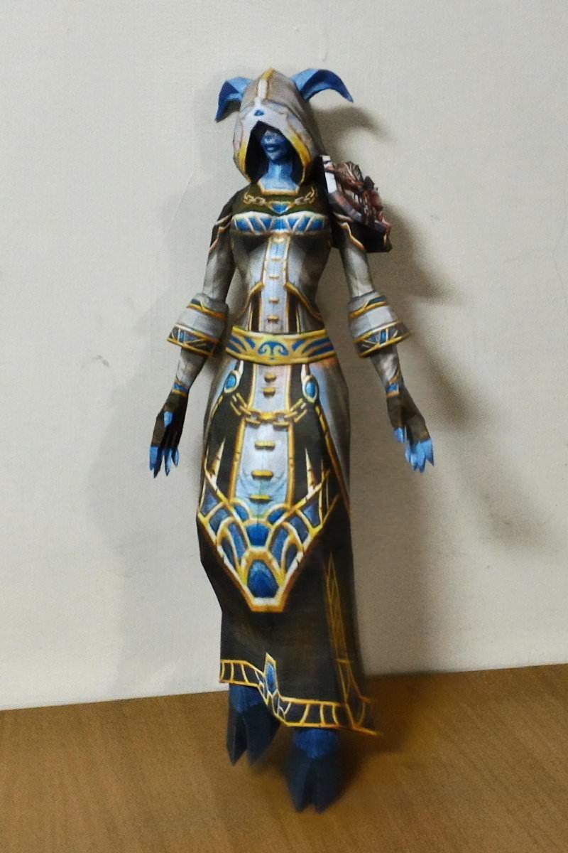 魔兽世界:用纸做出的人物模型,自己动手就可以拥有精美周边!