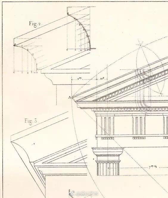 設計手繪,古典建筑細節設計表達