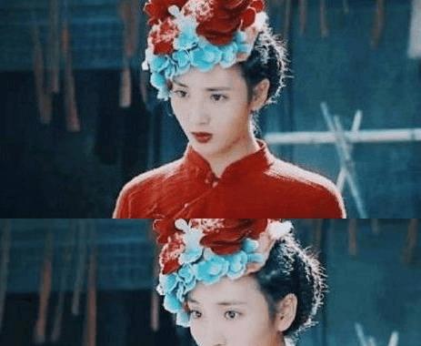 电视剧中,小神婆的造型基本都是穿红带绿的,不管什么发型,头上要顶点图片