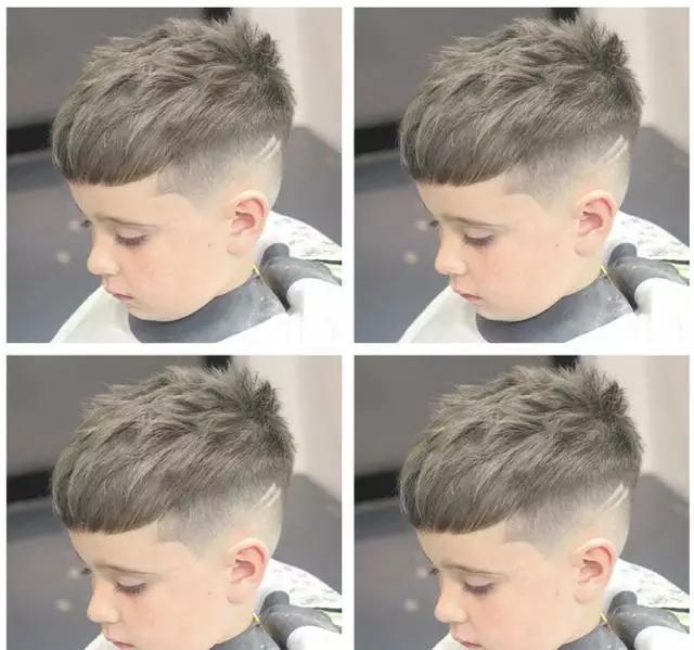 小男孩的发型帅的有很多款,2018潮流图片