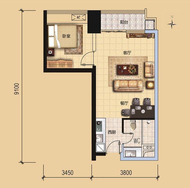 这种户型的房子不但容易造成空间浪费,给装修上带来困难,尖角,拐角多图片
