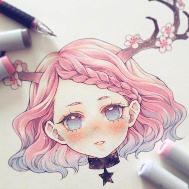 插画师minmonsta马克笔手绘的十二星座,正太萝莉好看到爆炸