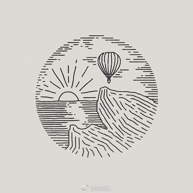 针管笔手绘极简小插画(by:liam ashurs)